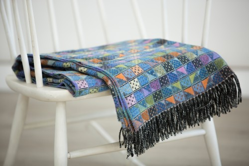 Merino wool throw blanket SMILE
