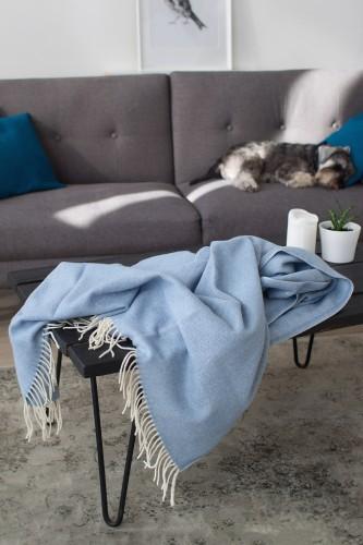 Wool blanket green plaid