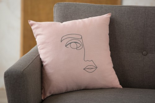Linen cushion cover FACE