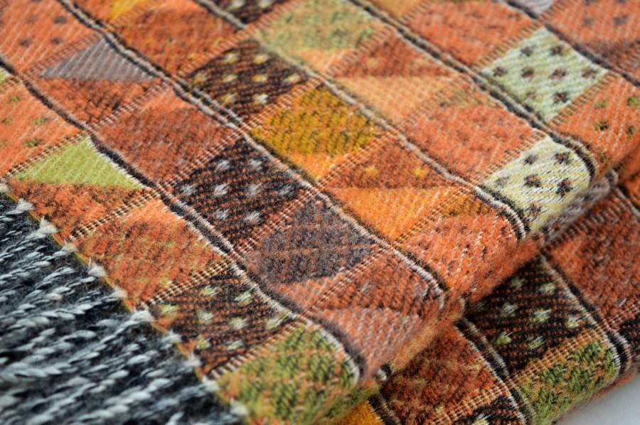 Stylish Merino wool blanket MUSTARD