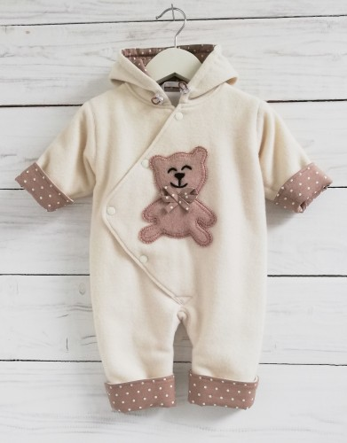 Cashmere wool baby overall 62 cm