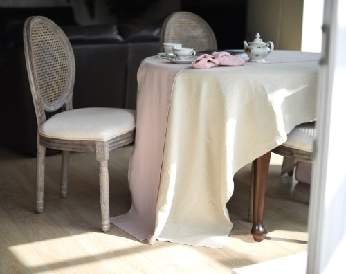 Linen table cloth IVORY