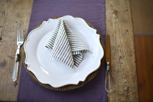 Linen napkins BLACK IN WHITE (4 pcs.)