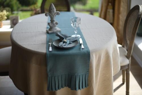 Linen table runner BOHO