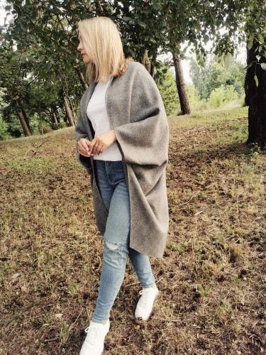 Soft and cozy wool poncho/ vest